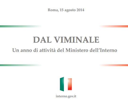 La sicurezza in italia scarica il rapporto del ministero for I ministero interno