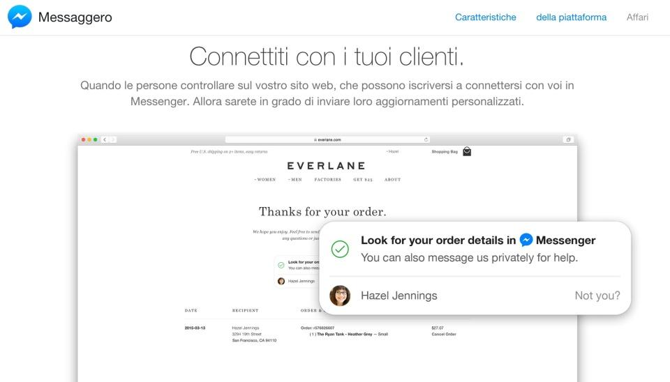 connettiti con i tuoi clienti