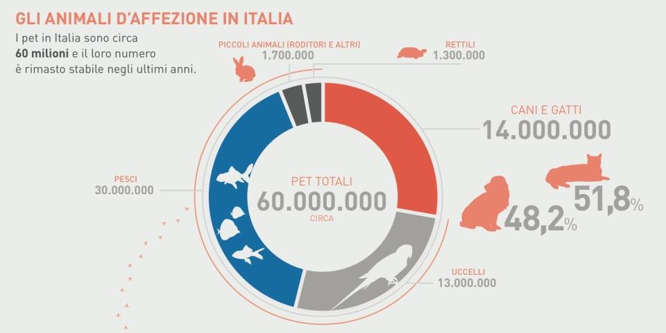 gli animali da affezione in italia