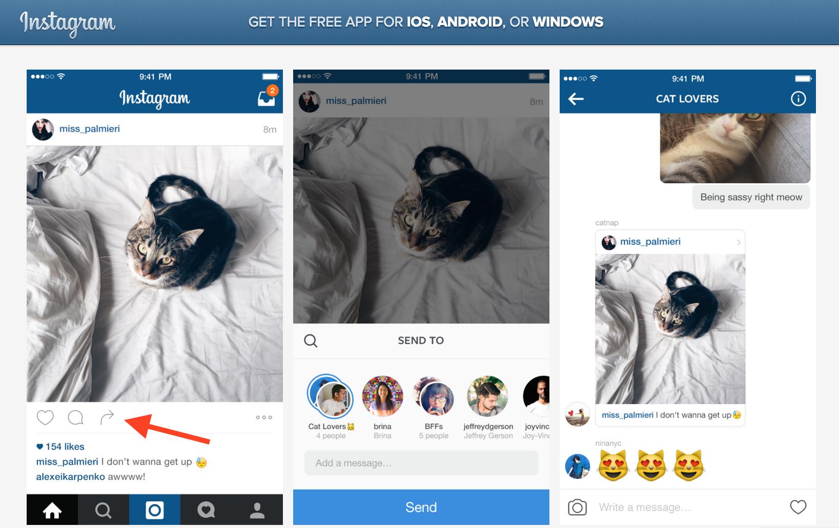 Da oggi su instagram puoi inoltrare ai tuoi amici con un - Instagram messaggio letto ...