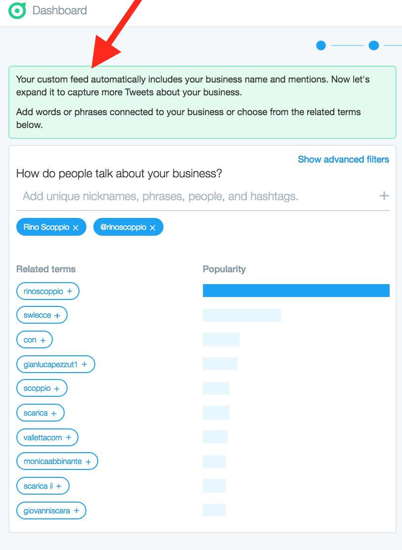 03 - Scegli il tuo feed personalizzato